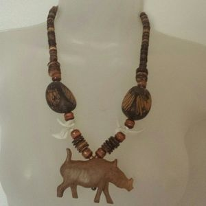 Wooden African Safari Necklace